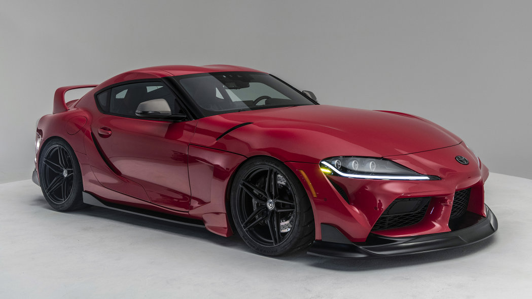 The Toyota Supra takes canter phase at SEMA