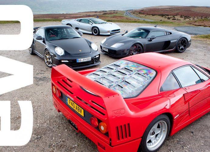 Ferrari F40 v Porsche GT2 RS v Noble M600 v Jaguar XJ220|evo Publication
