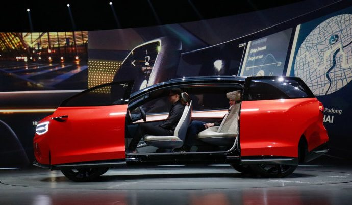 VW ID. Roomzz principle sneak peeks huge electrical crossover for China