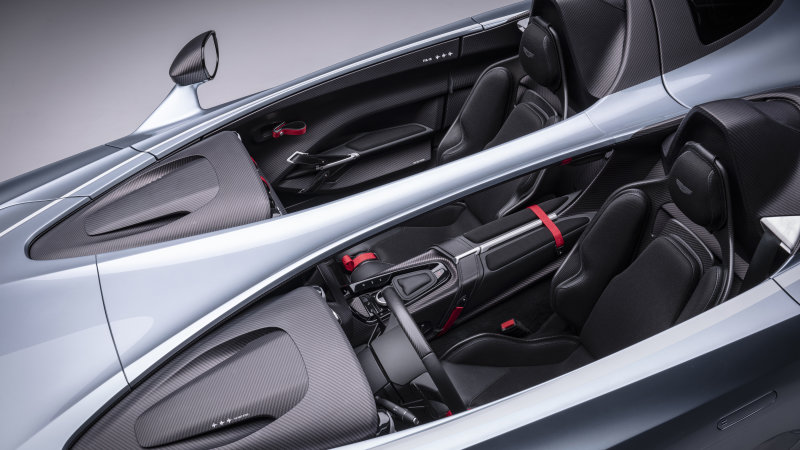 Aston Martin V12 Speedster drops roof and windshield, prices $950,000