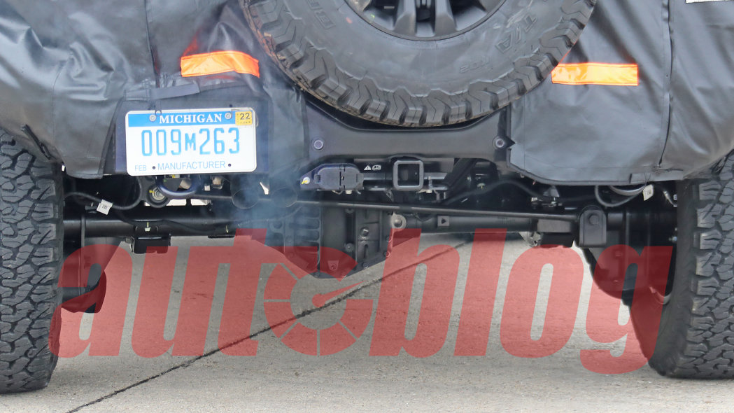 Ford Bronco Raptor model spy pictures reveal sturdy suspension
