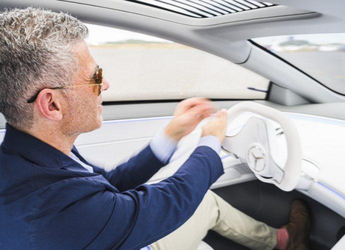 Mercedes-Benz Vision EQS Idea Drive|Inside, innovation, electrical