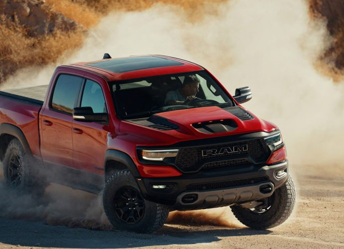 2021 Ram 1500 TRX exposed with a Hellcat V8 all set to handle Raptor