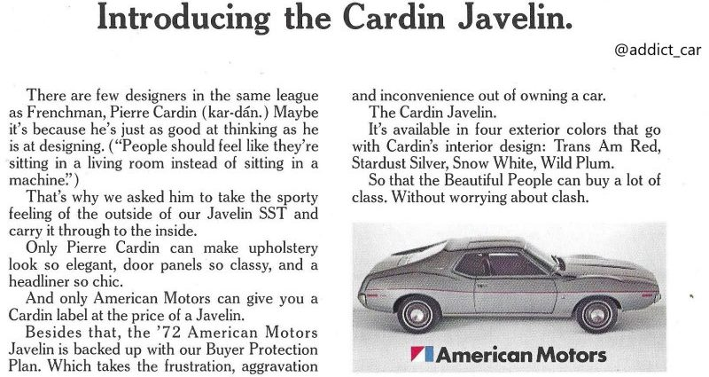Remembering designer Pierre Cardin's automotive tasks