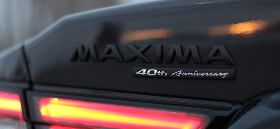 2021 Nissan Maxima 40th Anniversary Version Street Check Overview