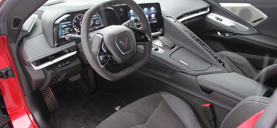 2021 Chevy Corvette Stingray Inside Driveway Take a look at   Photographs, options, steering wheel
