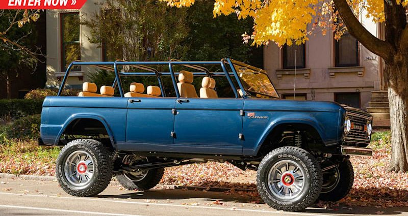 This four-door, three-row, classic Bronco can seat you and also all your good friends