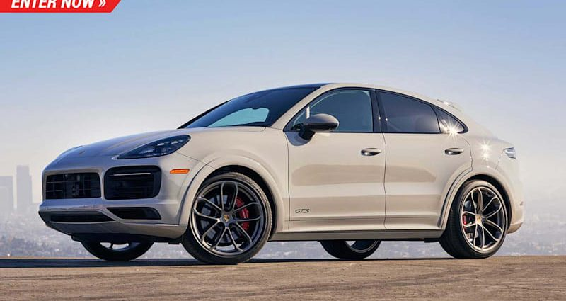 Get in currently to win a 2021 Porsche Cayenne GTS and also $20 k money