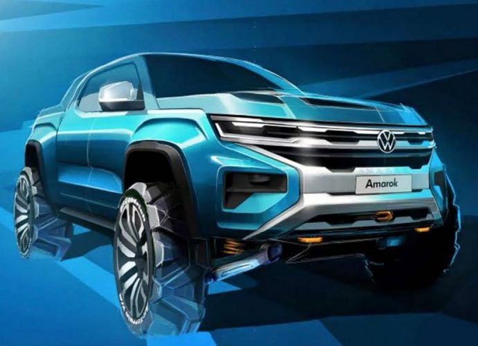 Volkswagen Amarok midsize pick-up previewed in style illustration