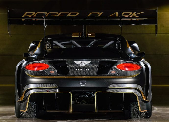 Bentley Continental GT3 expands wings to overcome the Pikes Height Hillside Climb Up