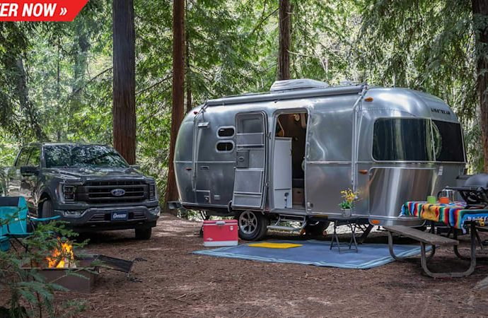 Win a 2021 Ford F-150 as well as an Airstream Caravel as well as take place a glamping experience