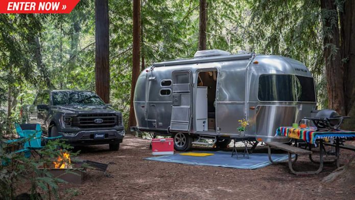 Win a 2021 Ford F-150 and also an Airstream Caravel and also take place a glamping experience