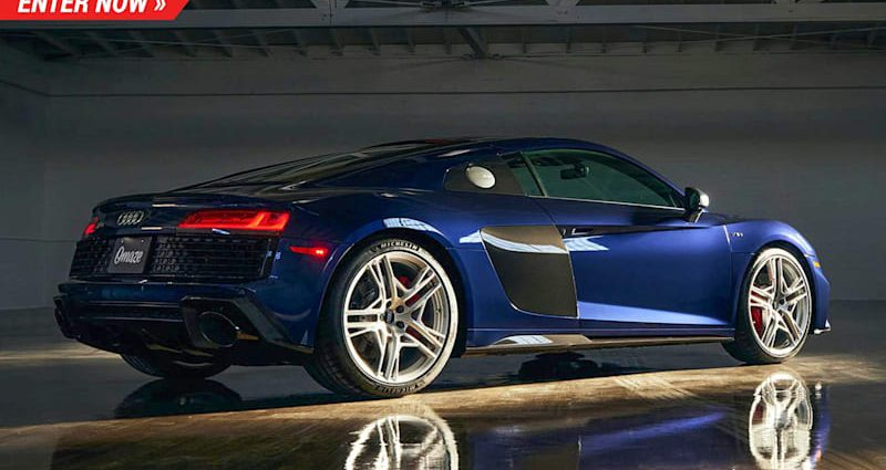 Audi just made 15 of these minimal version R8 V10 s as well as you can win one right here
