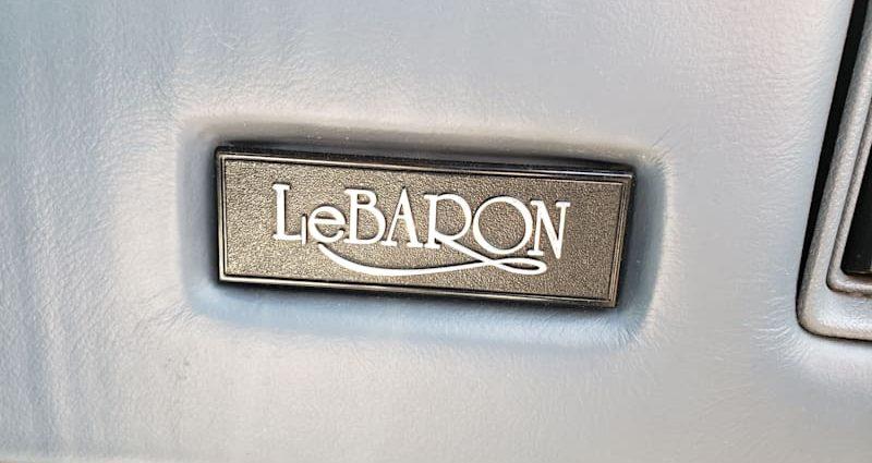 Junkyard Treasure: 1988 Chrysler LeBaron Turbo Car