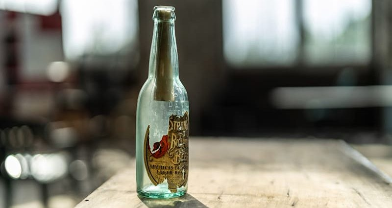 Beer container note amongst artefacts discovered in Michigan Central Terminal by Ford's renovators