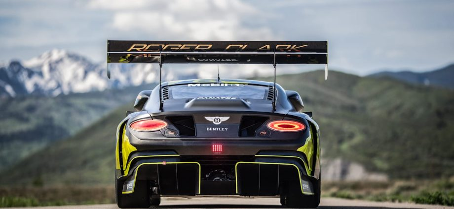 Bentley Continental GT3 Pikes Top racer produces 750 horse power on biofuel