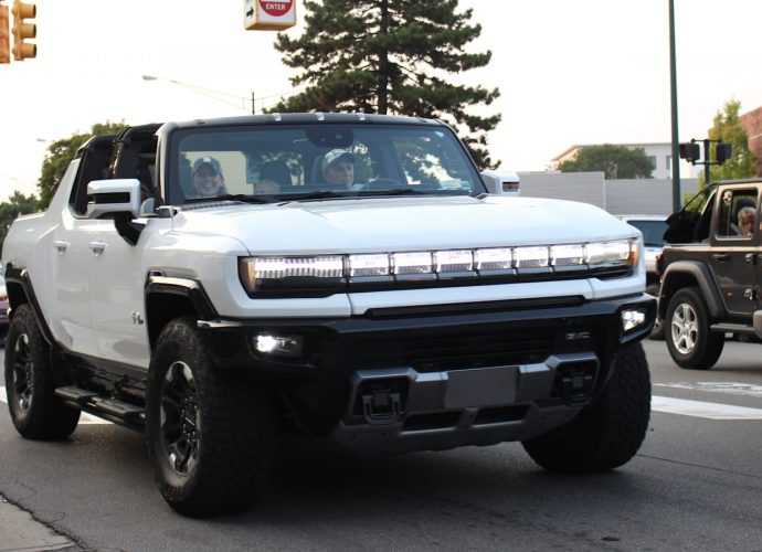 GM crab strolled the Hummer EV vehicle backwards and forwards Woodward this weekend break