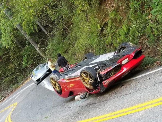 Ferrari 488 Pista Crawler surrender on the Tail of the Dragon